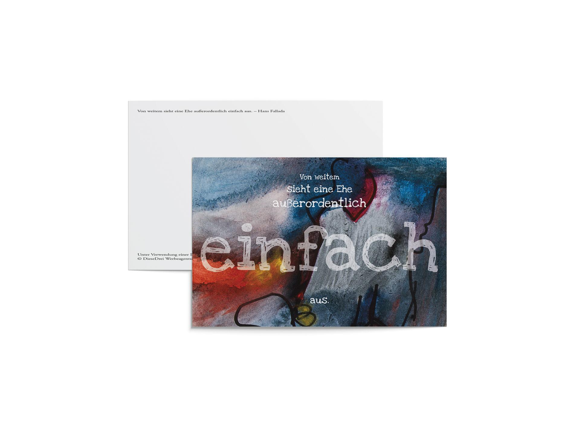 """""""Entblättert"""" Postkarte Fallada"""