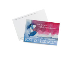 Entblättert Postkarte