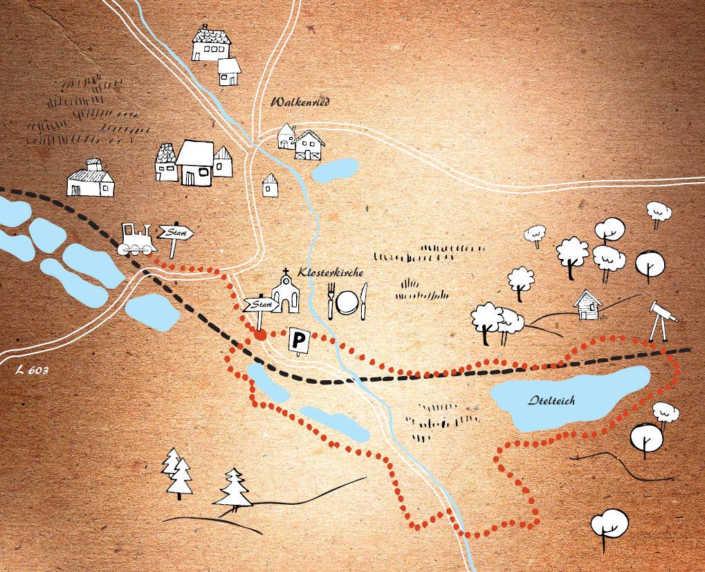 Karte Kräuterwanderung um Walkenried